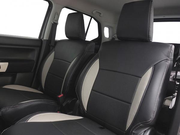 クロスビー | シートカバー【オートウェア】クロスビー K10C系 シートカバー 専用モデル カラー:ブラック / オレンジステッチ