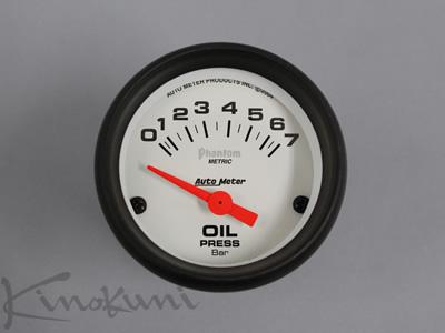 【★送料無料】 【キノクニ】52φ電気式 油圧計 ホワイトパネル(5727-K、ショートスイープ油圧計/電52φ+ライン WP/BS)