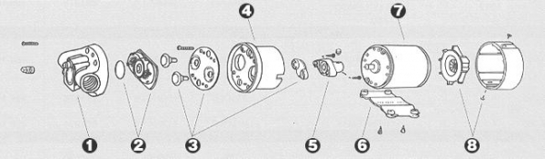【★送料無料】 【キノクニ】ギアオイルポンプリペア(31-270、モーターAssy(12V/7.0A))