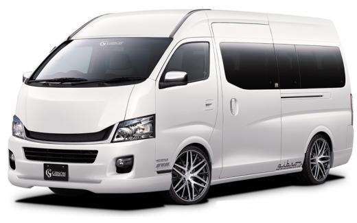 E26 NV350 キャラバン ワイドボディ | フロントハーフ【ギブソン】NV350キャラバン E26 ワイドボディ フロントハーフスポイラー (1型 ~2017/6 適合)