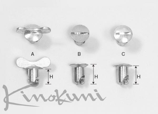 【★送料無料】 【キノクニ】モロソ クイックファスナー(71260、バタフライヘッドファスナー(H:13.5mm))