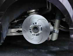 汎用ホイールスペーサー   フェイクローター【グロウ】フェイクローター スリットタイプ 軽自動車用 1.5mm