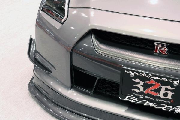 GT-R R35 | フロントカナード【ミツルパワー】326 POWER 3D☆STAR NISSAN GT-R35 前期 フロントカナード