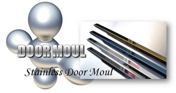 HM1.2 バモス | ドアモール【グロウ】バモス HM2 ステンレスドアモール 4ピース 鏡面 Black