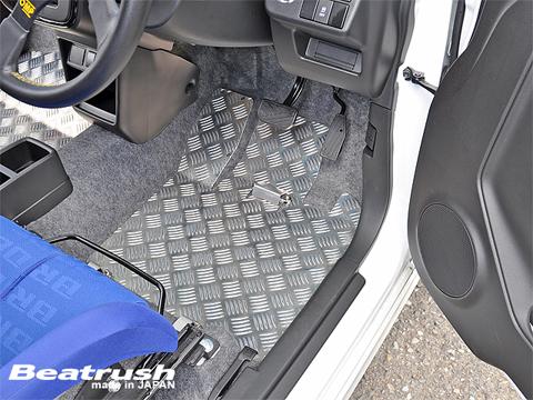 アルト HA36S/36V型   フロアマット【レイル / ビートラッシュ】アルト ターボRS/ワークス( 5AGS車 ) HA36S アルミフロアーパネル 運転席側単品