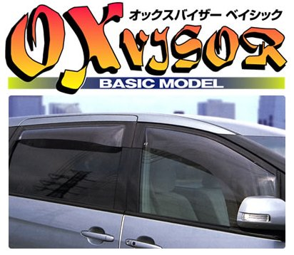 QNC20 bB | サイドバイザー / ドアバイザー【オックスバイザー】bB QNC20系 オックスバイザー ベイシック リア用