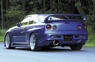 R34 GT-R | リアバンパー【アブフラッグ】GT-R34 Rear Bumper Spoiler ver. Mure