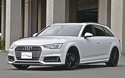 Audi A4 | フロントリップ【ガレージベリー】AUDI A4 AVANT 8W S-LINE フロントリップスポイラー カーボン製