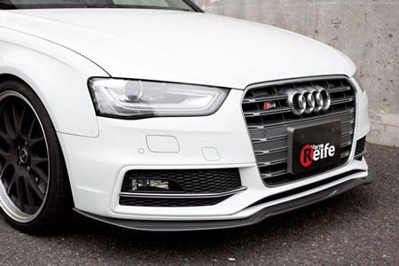 Audi A4 B8 | フロントリップ【ガレージベリー】AUDI S4アバント後期 8K フロントリップスポイラー FRP製