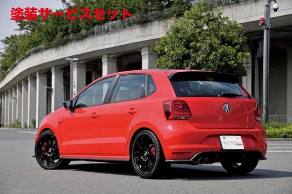 ★色番号塗装発送VW POLO 6R/6C | リアアンダー / ディフューザー【ガレージベリー】VW POLO 6C GTI 後期 リアディフューザー FRP製