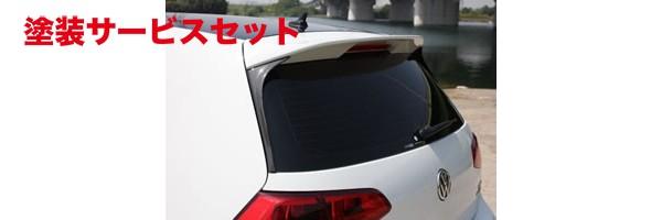 ★色番号塗装発送フォルクスワーゲン ゴルフ 7 VW GOLF VII | ルーフスポイラー / ハッチスポイラー【ガレージベリー】VW GOLF 7 TSI コンビネーションルーフスポイラー (リアウインドウサイドスポイラー FRP製)