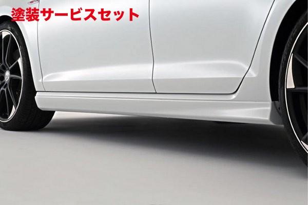 ★色番号塗装発送フォルクスワーゲン ゴルフ 7 VW GOLF VII   サイドステップ【ガレージベリー】VW GOLF 7 TSI /GTI サイドステップ FRP製