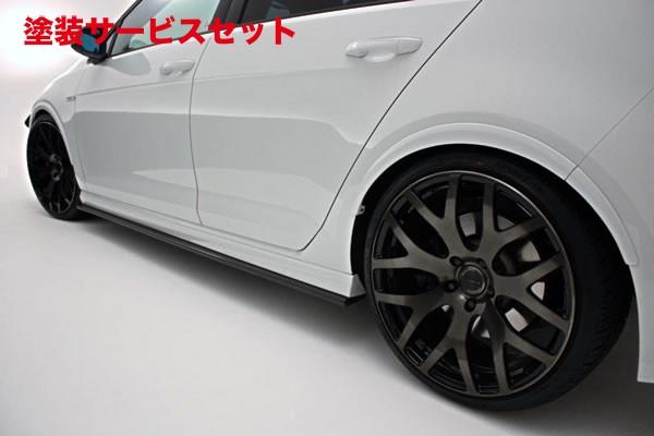 ★色番号塗装発送フォルクスワーゲン ゴルフ 7 VW GOLF VII | サイドステップ【ガレージベリー】VW GOLF 7 グレード:R (2014/2~) サイドステップ カーボン製