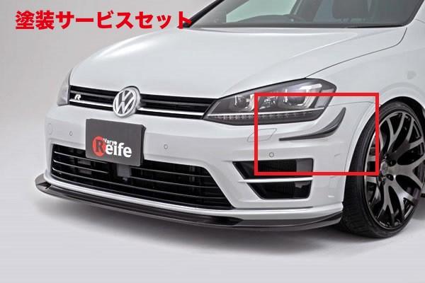 ★色番号塗装発送フォルクスワーゲン ゴルフ 7 VW GOLF VII | フロントカナード【ガレージベリー】VW GOLF 7 グレード:R バンパーカナード FRP製