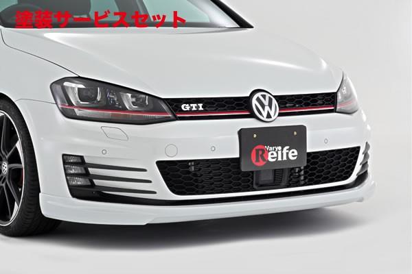 ★色番号塗装発送フォルクスワーゲン ゴルフ 7 VW GOLF VII   フロントリップ【ガレージベリー】VW GOLF 7 GTI フロントリップスポイラー (ウレタン製) 本体のみ
