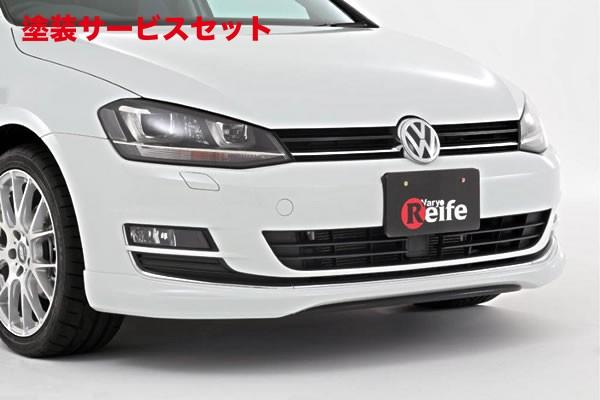 ★色番号塗装発送フォルクスワーゲン ゴルフ 7 VW GOLF VII   フロントリップ【ガレージベリー】VW GOLF 7 TSI フロントリップスポイラー (ウレタン製) フロントスプリッター (FRP製)付