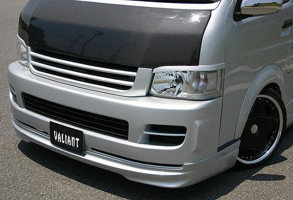 HIACE ボンネットフード GARAGE VARY 注目ブランド 200 ハイエース ワイド カーボン製 ガレージベリー ワイドボディ タイプ1 ボンネット 200系 日本産