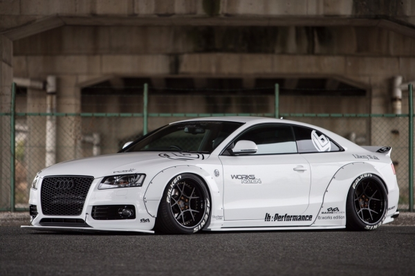 Audi S5 S5 B8/8T | エアロ 5点キット【バーンブレッヘン】AUDI A5/S5 BahnBrechen×LB★WORKS SETPRICE/5Items(FrontDiffuser.SideDiffuser.RearDiffuser.RearWing.WideFender)