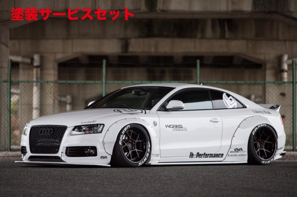 ★色番号塗装発送Audi S5 S5 B8/8T | フロントリップ【バーンブレッヘン】AUDI A5/S5 BahnBrechen×LB★WORKS FrontDiffuser