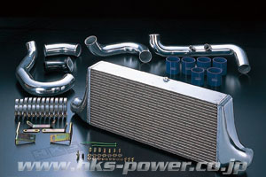 【特価キャンペーン中】 R34 GT-R   インタークーラー【エッチケーエス】スカイラインGT-R BNR34 インタークーラーキット Rタイプ 700X304X103・純正置き換え