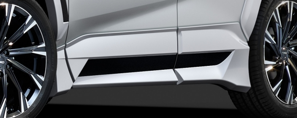 【★送料無料】 RAV4 XA50   サイドステップ【ティーアールディー】新型RAV4 XA50系 サイドスカート ホワイトパールクリスタルシャイン