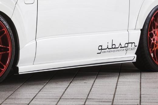サイドステップ【ギブソン】ハイエース 200系 1-4型 ワイドボディ ミドル グラファム・サイドステップ [2JN]インテリジェントシルバートーニング 塗分け無