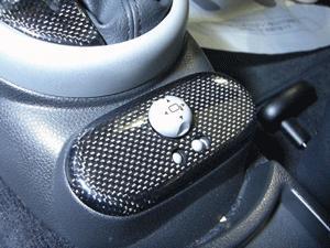 BMW Mini R50/52/53 | インテリアパネル【ハルトデザイン】BMW Mini R50/R53 ミラースイッチパネル カーボン