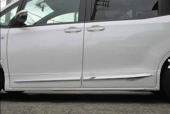 80/85 ヴォクシー VOXY | ドアモール【エイチスタイル】ヴォクシー ZRR80/85 ZWR80G グレード:V/X ドアパネル (メッキ付き) 素地