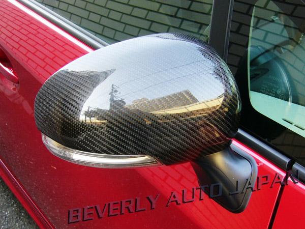 130 マークX | エアロミラー / ミラーカバー【ビバリーオート】マークX GRX130系 リアルカーボンドアミラーカバーユニット レッドケブラー&カーボン クリア塗装済