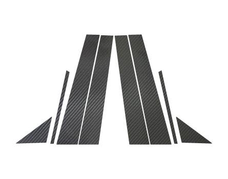 【ハセプロ】マジカルカーボンシート レクサス IS/IS F GSE20系/USE20(2005.9~)4ピース×左右セット ブラック