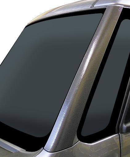 【ハセプロ】マジカルカーボンシート ダイハツ ウェイク LA700S/710S(2014.11~) Aピラー ガンメタ