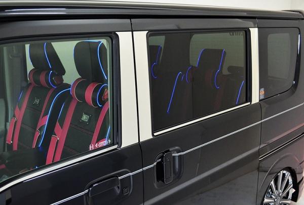 S120 アトレー | モール【ハーテリー】エブリイワゴン DA17W ラグジュアリーガラスモール