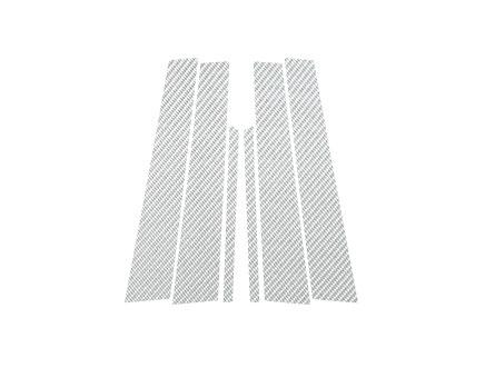 ステッカー【ハセプロ】マジカルカーボンシート ベンツ Cクラスセダン W203(2000.9~2007.6) 3P×左右 シルバー