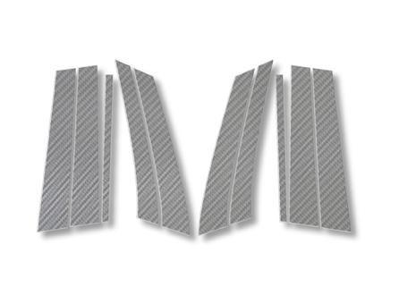 ステッカー   Hasepro ステッカー【ハセプロ】マジカルカーボンシート ベンツ Cクラスワゴン S203(2001.6~2008.4) 5P×左右 ガンメタ