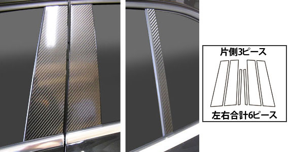 ステッカー【ハセプロ】マジカルカーボンシート ベンツ GLAクラス X156(2014.5~) 2P×左右 ガンメタ