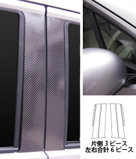 【ハセプロ】マジカルカーボンシート ホンダ N-ワゴン・カスタム JH1・2(2013.11~) 3P×左右 ガンメタ