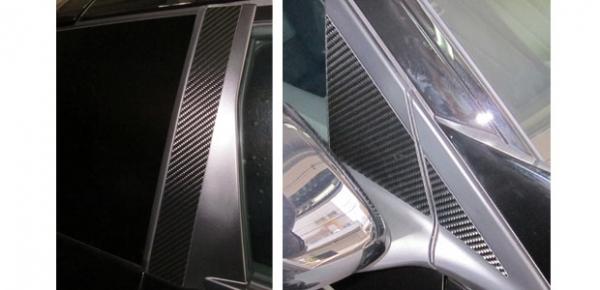 【ハセプロ】マジカルカーボンシート ホンダ CR-Z ZF1(2010.2~) バイザーカット 3P×左右 ブラック