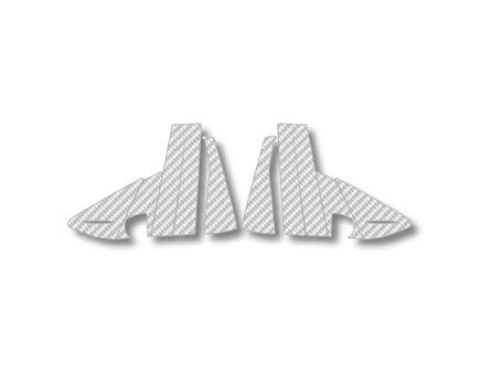 ステッカー【ハセプロ】マジカルカーボンシート ベンツ AクラスA170 W169(2005.2~2013.1) 5P×左右 シルバー
