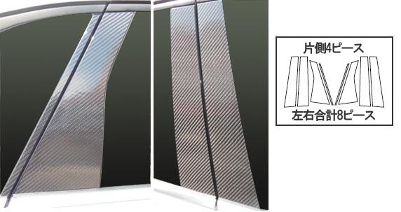ステッカー【ハセプロ】マジカルカーボンシート ベンツ Bクラス W246(2012.4~) 4P×左右 ブラック