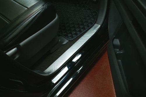 ステッカー【ハセプロ】マジカルカーボンシート ホンダ ステップワゴンRG1~4(2005.5~2009.10) キッキングプレート 黒