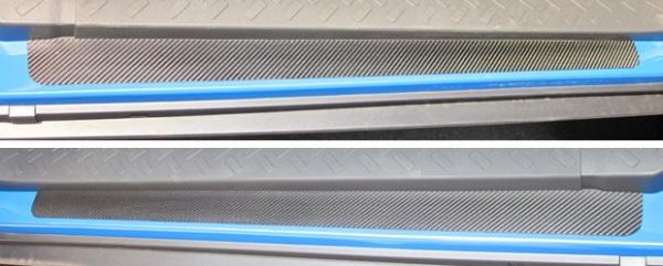 【ハセプロ】マジカルカーボンシート トヨタ FJクルーザーGSJ15W(2010.12~) スカッフプレート シルバー