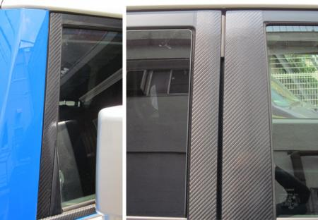 ステッカー【ハセプロ】マジカルカーボンシート トヨタ FJクルーザーGSJ15W(2010.12~) ブラック