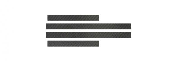 【ハセプロ】マジカルカーボンシート トヨタ クラウン GRS210系(2012.12~) スカッフプレート シルバー