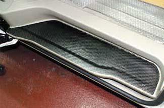 ステッカー【ハセプロ】マジカルカーボンシート トヨタ エスティマ50系 キッキングプレート 黒