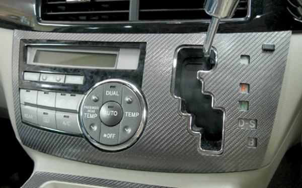 【ハセプロ】マジカルカーボンシート トヨタ エスティマハイブリッド AHR-20W(2006.6~2008.11)前期 シフトパネル 黒