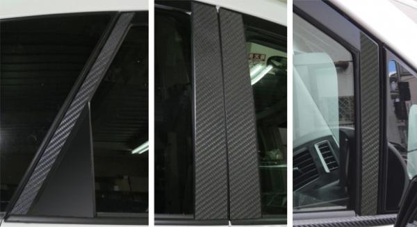 ステッカー【ハセプロ】マジカルカーボンシート トヨタ プリウスアルファ ZVW40W/41W(2011.5~) 4P×左右 ブラック