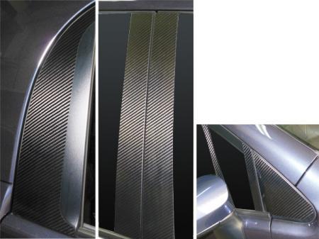 ステッカー【ハセプロ】マジカルカーボンシート トヨタ スペイド NSP/NCP140系(2012.7~) 9P×左右 ブラック