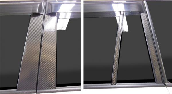 【ハセプロ】ランドクルーザープラド 150W マジカルカーボンシートバイザーカット 4P×左右 ブラック