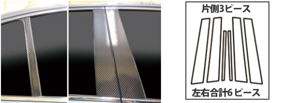 ステッカー【ハセプロ】マジカルカーボンシート ニッサン スカイラインセダン V37系(2014.2~) 3P×左右 ガンメタ