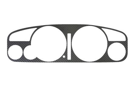 【ハセプロ】マジカルカーボンシート スカイラインR33メーターパネル BCNR33/ECR33 AT用 シルバー